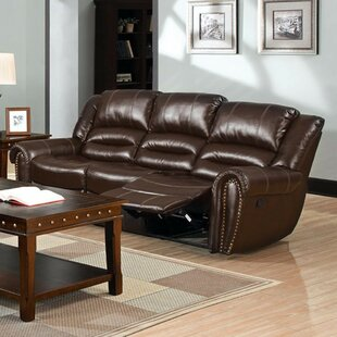 Gangemi Bonded Leather Recliner Sofa by Red Barrel Studio