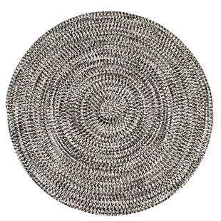 Longe Tweed Hand-Braided Electric Black Indoor/Outdoor Area Rug by Winston Porter