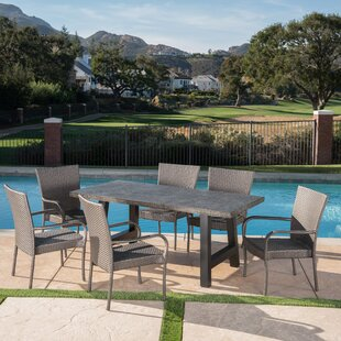 Grimmer Outdoor 7 Piece Dining Set