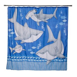 Justin Fish'n Sharks Under Water Single Shower Curtain