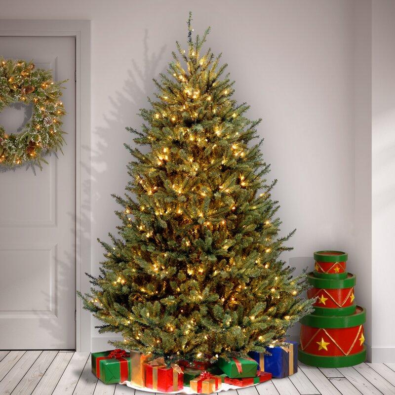 White Fir Christmas Tree: Natural Fraser Medium White Fir Artificial Christmas Tree