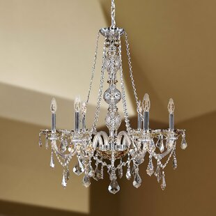 Astoria Grand Doggett 6-Light Chain Candle Style Chandelier
