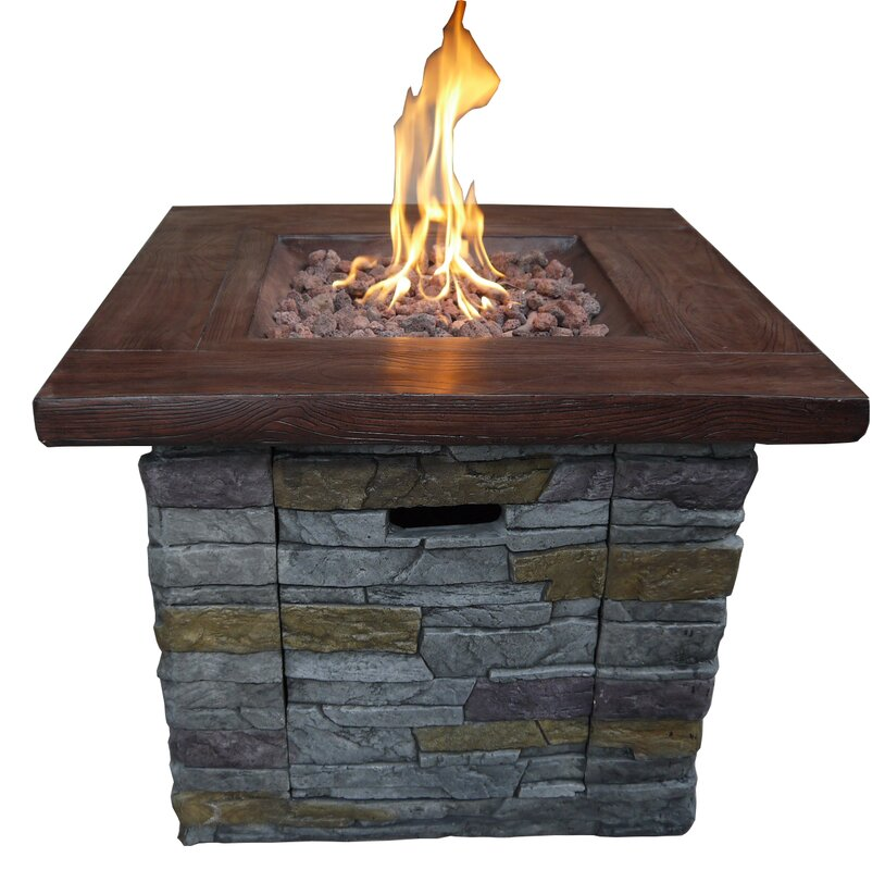 Lovely Propane Gas Fire Pit Part - 4: Davey Outdoor Propane Gas Fire Pit Table