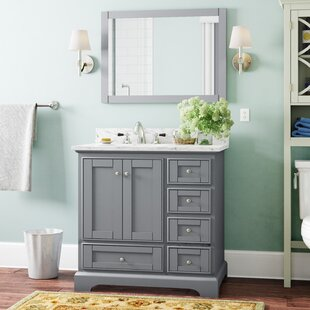 Best Deals Castellanos 36 Single Bathroom Vanity Set with Mirror By Charlton Home
