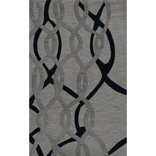 Best Review Bella Machine Woven Wool Gray Area Rug ByDalyn Rug Co.