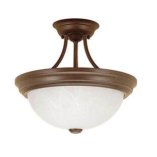 Compare & Buy Stehouse 2-Light Semi-Flush Mount ByFleur De Lis Living