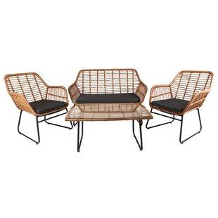 Jormundagand 4 Seater Rattan Conversation Set By Sol 72 Outdoor