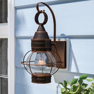Savings Zain 1-Light Outdoor Wall Lantern By Beachcrest Home