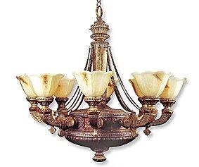 JB Hirsch Home Decor 8-Light Shaded Chandelier