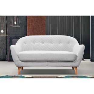 Wolk Fabric Loveseat by George Oliver
