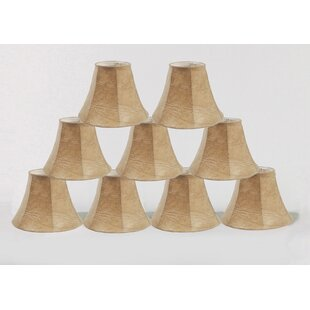 6 Faux Leather Bell Lamp Shade (Set of 9)