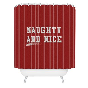 East Urban Home Leah Flores Naughty and Nice Shower Curtain