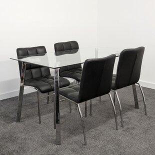 Branham Dining Set With 4 Chairs By Metro Lane