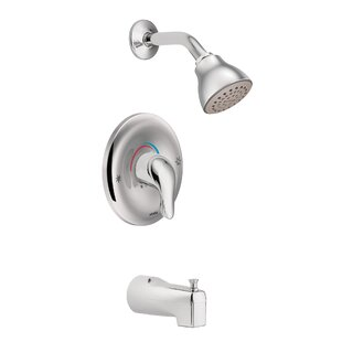 Compare prices Chateau Pressure Balance Tub and Shower Faucet with Lever Handle and Posi-Temp ByMoen