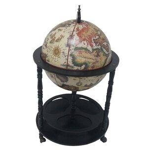 Firenze Italian Style 3 Leg Floor Globe Bar by Merske LLC