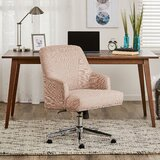 Outstanding Blush Pink Tufted Desk Chair Wayfair Gamerscity Chair Design For Home Gamerscityorg