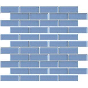 Light blue tile wayfair 1 x 3 glass subway tile in light periwinkle blue aloadofball Gallery
