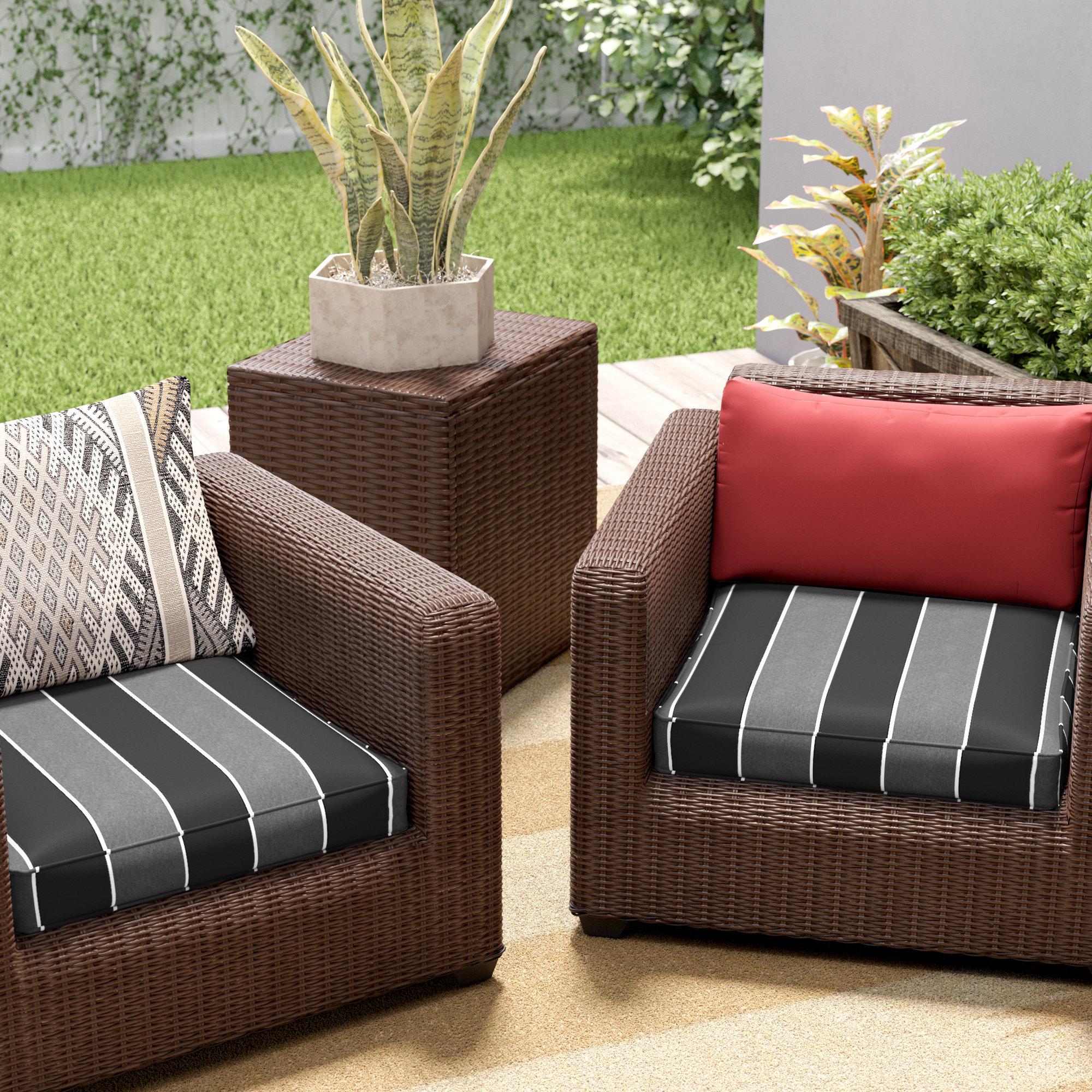 Brayden Studio Hinkel Oudoor Sunbrella Dining Chair Cushion Reviews Wayfair