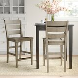 Northampton Solid Wood 25 Counter Stool (Set of 2) by Three Posts™