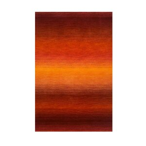 Belding Orange/Dark Red Sunrise Solid Area Rug
