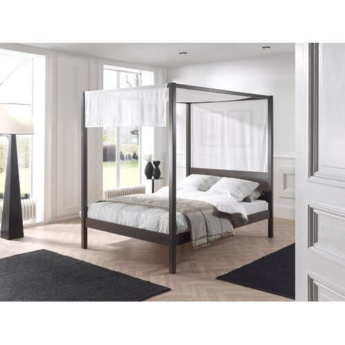 Beaumont Four Poster Bed Isabelle and Max Colour (Bed Frame): Taupe, Size: European Double (140 x 200cm)