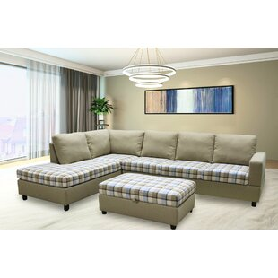 Millwood Pines Enzo Sectional with Ottoman