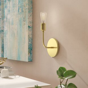 Best Price Wallen Single 1-Light Armed Sconce By George Oliver
