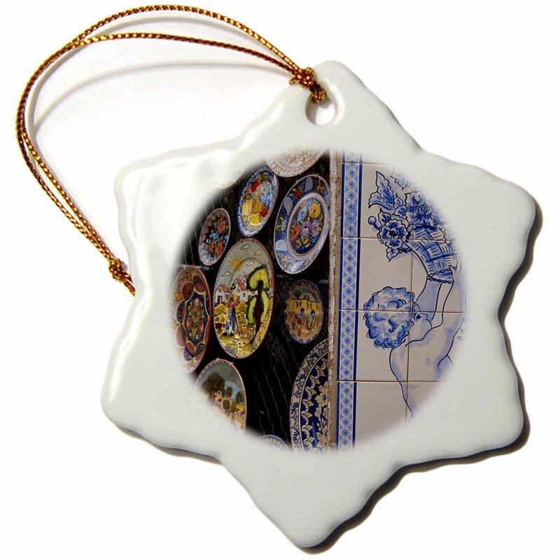 The Holiday Aisle Portugal Algarve Monchique Pottery Shop Snowflake Holiday Shaped Ornament Wayfair