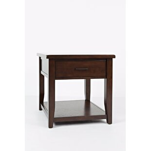 Hickey End Table with Storage by Alcott Hill