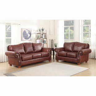 Vranduk 2 Piece Leather Living Room Set by Canora Grey