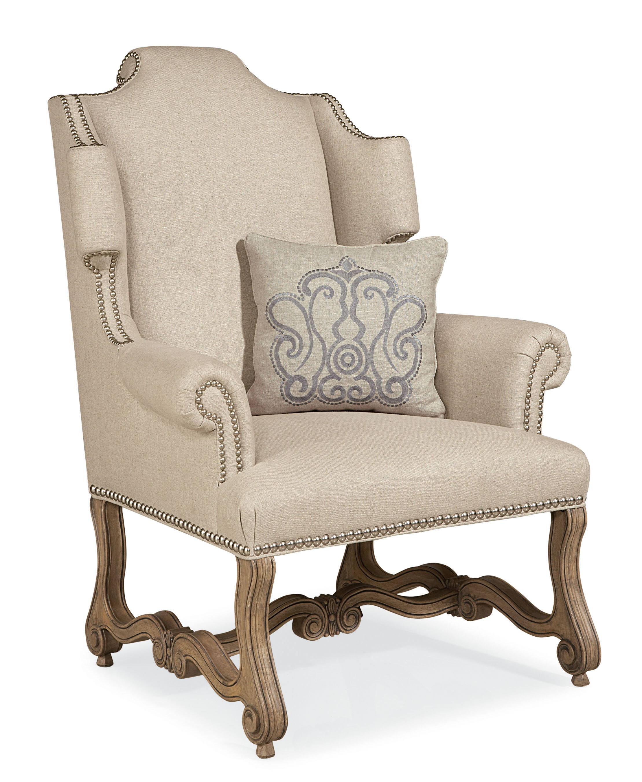 Beau One Allium Way Errol Exposed Wood Wingback Chair | Wayfair