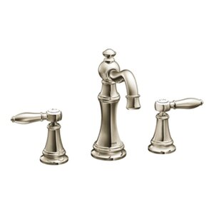 Weymouth Double Handle Widespread High Arc Bathroom Faucet with Optional Drain