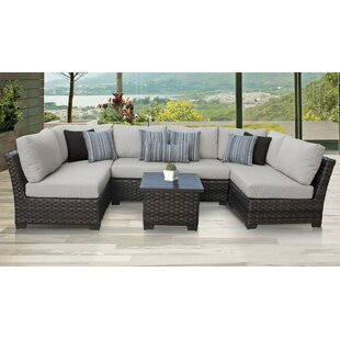 Brown Wicker Patio Furniture.4 Piece Wicker Furniture Set Wayfair