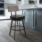 Banneker Swivel Adjustable Height Bar Stool by Williston Forge