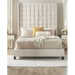 Tufted Bed For Luxullian Button Tufted Panel Bed Ivory Wayfair