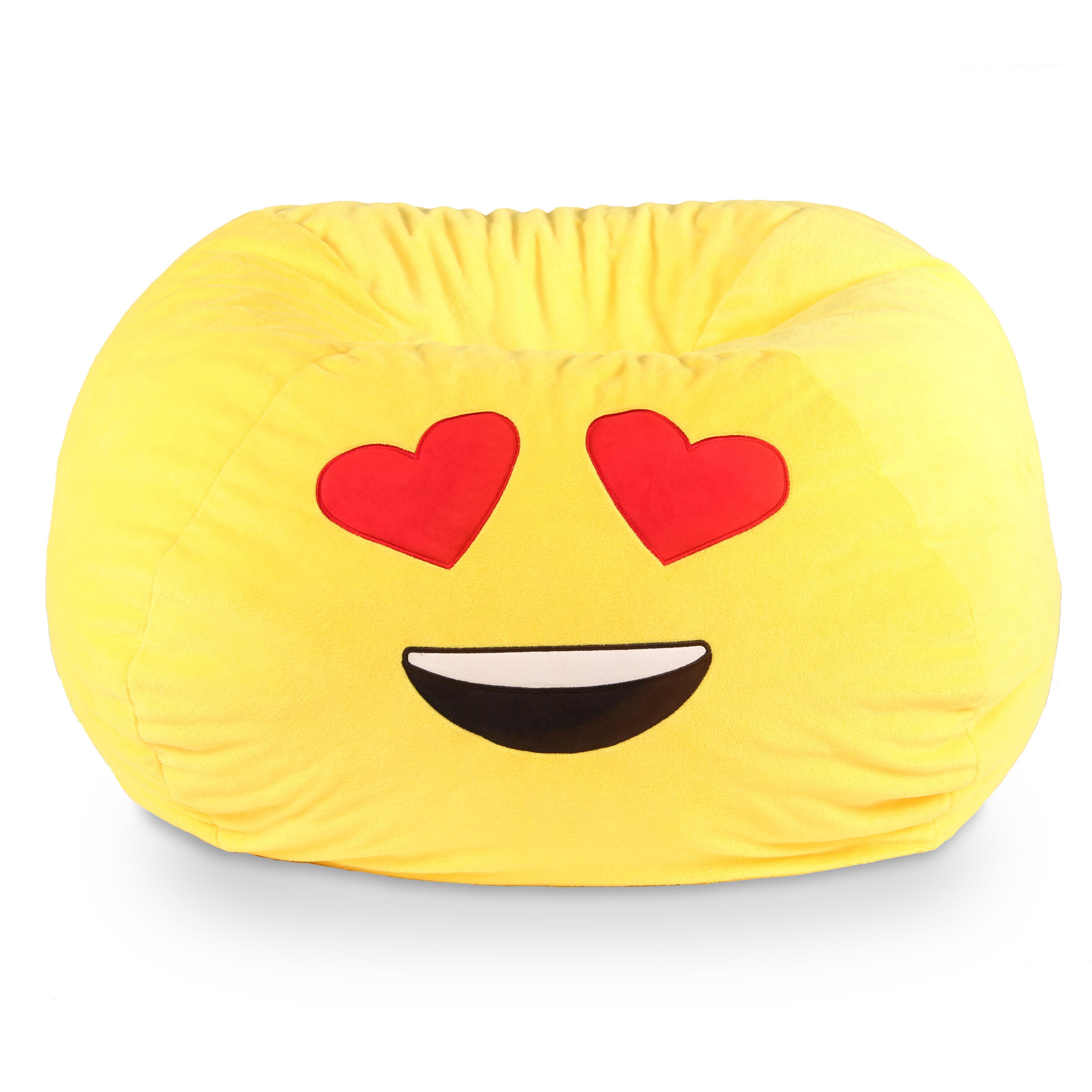 Ace casual furniture gomoji emoji heart eyes bean bag chair reviews wayfair