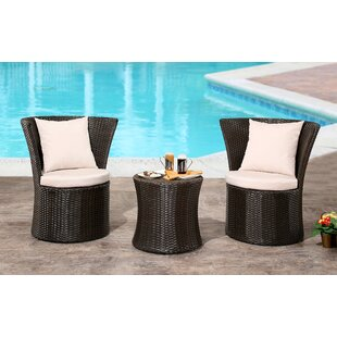 Burleigh 3 Piece Bistro Set by Orren Ellis