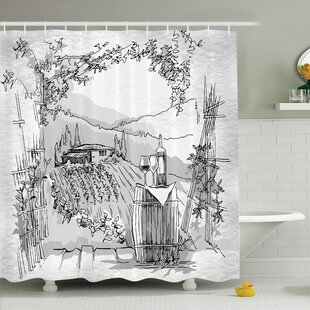 Sketch Monkey Hipster Retro Shower Curtain Set