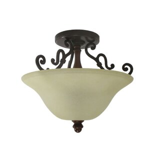 Wrightsville 2-Light Semi Flush Mount by Astoria Grand