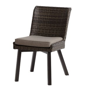 Hairston Patio Dining Chair with Cushion (Set of 2) by Ivy Bronx