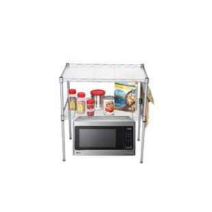Mind Reader 2 Tier Microwave Cart