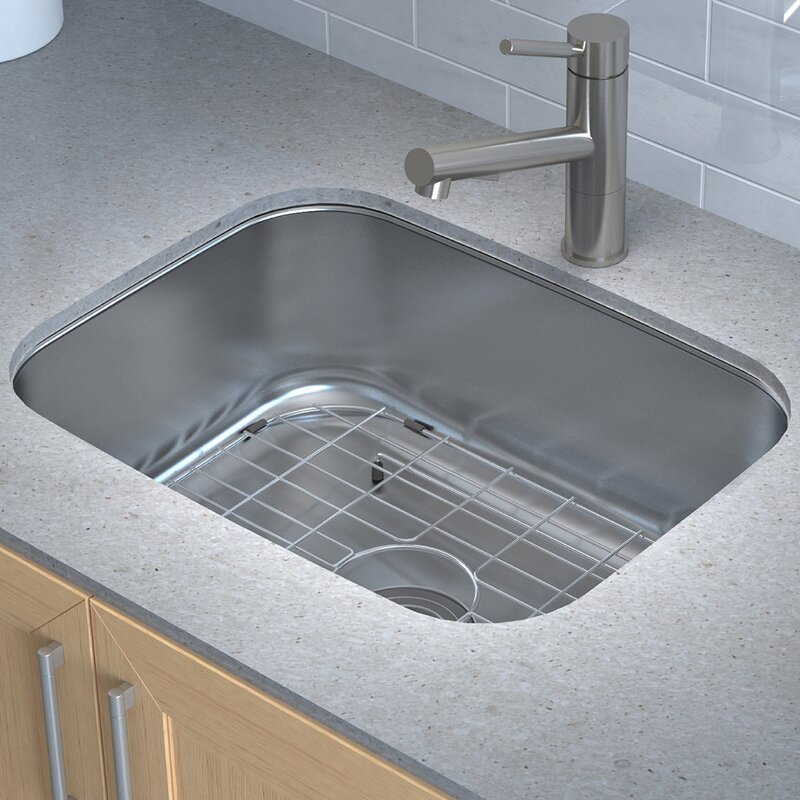 Kraus stainless steel 23 x 18 undermount kitchen sink with drain stainless steel 23 x 18 undermount kitchen sink with drain assembly workwithnaturefo