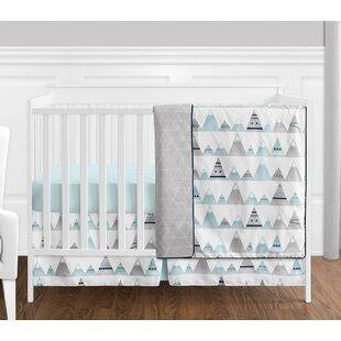 Reviews Mountains 4 Piece Crib Bedding Set BySweet Jojo Designs