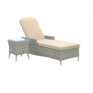 Ridgemoor Sun Lounger Set With Cushion And Table Image
