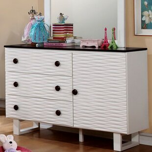 Best Price Haedus 3 Drawer Combo Dresser by Zoomie Kids