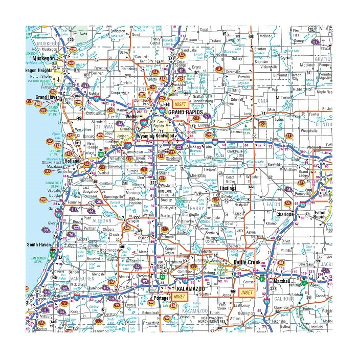 Michigan Breweries and Wineries Map, 40