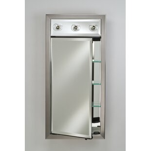 Compare prices Eagle 17 x 34 Recessed Medicine Cabinet with Lighting By Charlton Home