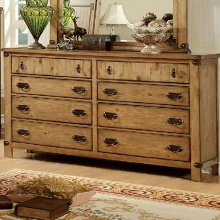 Shellson 8 Drawer Double Dresser