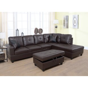 Winston Porter Plunk Sectional with Ottoman