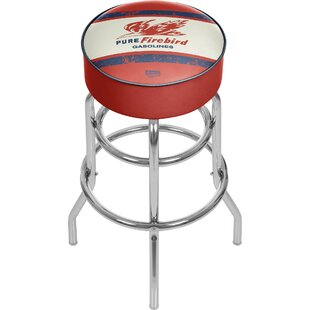 Pure Oil Vintage Swivel Bar Stool Trademark Global